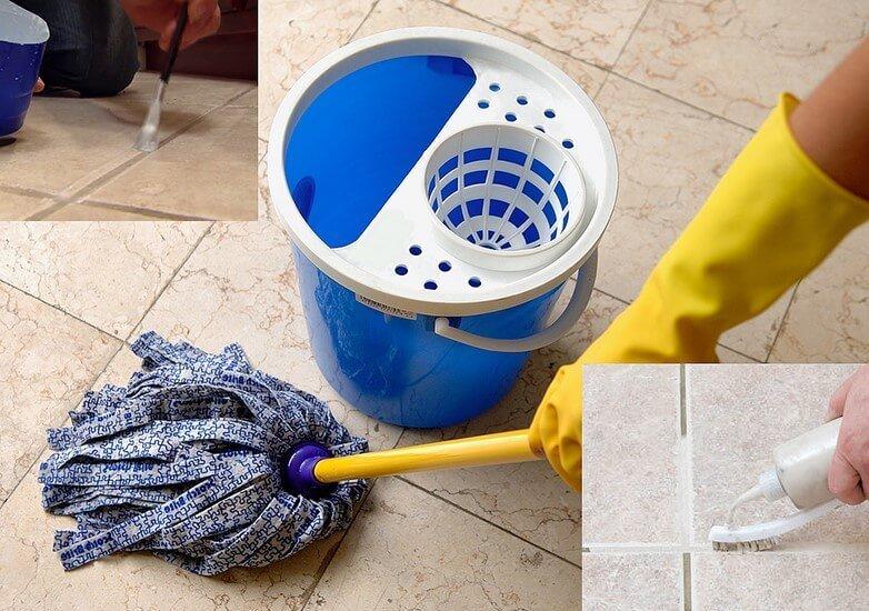 طريقة بسيطة لجلي البلاط فى المنزل